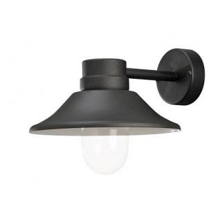 LED High Power Wandleuchte VEGA Alu schwarz außen mit klarem Glas 412-750