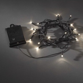 LED Lichterkette 40er Batt. warmweiß Timer / Funktion. aussen 3724-100