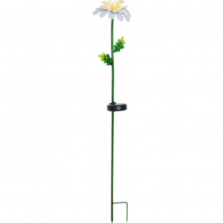 "LED Solarstab Blume "" Daisy"" bunt metall 15x77x15cm Best Season 482-23"