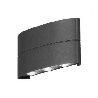 LED High Power Aluminium Wandleuchte CHIERI anthrazit IP54 außen 7853-370