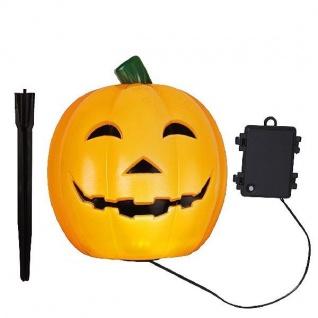 LED-Halloweenleuchte Kürbis Pumpkin 18x18cm Batterie Timer außen 857-01