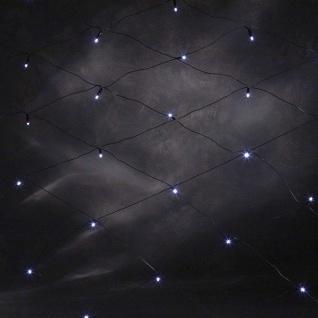 LED Lichternetz 64er kaltweiß-schwarz 2x2m außen Konstsmide 3749-200 xmas