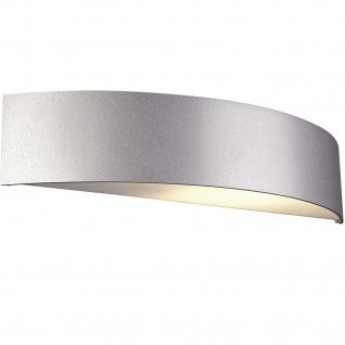 """Massive Wandaussenlampe """" Basel"""" aluminium grau E27 max 27W 17130/87/10"""