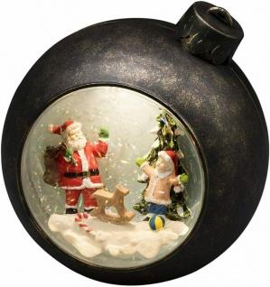 LED Weihnachtskugel Braun warmweiß Weihnachtsmann Batterie Konstsmide 4362-000
