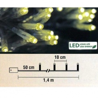 LED Lichterkette 10er Batteriebetrieb gelb Best Season 725-21