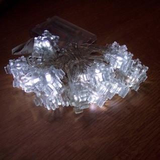LED Lichterkette Schneeflocke weiß 20er Batteriebetrieb BI11563-3
