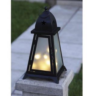 LED Garten Laterne Fyris 38x20cm warmweiß beleuchtet Best Season 861-02