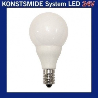 LED Glühbirne Glühlampe 24V E10 0, 48W opal weiss 5686-220