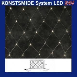 LED Lichternetz 2x1, 5m 100er warmweiß Konstsmide 24V System 4613-103