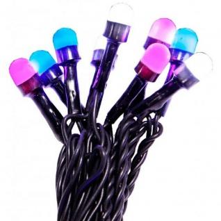 LED Party-Lichterkette 80er pink-weiss-blau mit 8 Funktionen außen 472-11