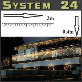 System 24 LED Eisregen-Lichterkette 49er extra warmweiß 491-10 außen xmas