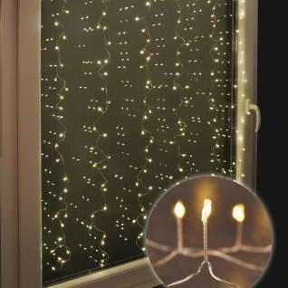 LED Lichtervorhang 240er silberdraht 105x150cm innen und außen HI 76632 xmas