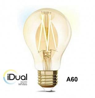iDual LED Leuchtmittel Filament E27 A60 amber dimmbar 806lm 9W exkl. FB Vintage