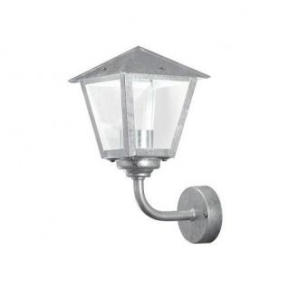 Stahl Wandleuchte BENU mit klarem Glas Konstsmide 440-320