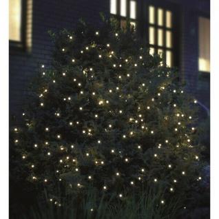LED Pavillon Lichternetz 3x3m 200er kaltweiß-grün außen FHS 02893 xmas