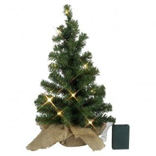 Mini-Weihnachtsbaum künstlich mit 10er LED Lichterkette warmweiß 45cm 600-51