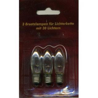 Ersatzlampen 3er 8V/1, 5W für 30er Lichterkette innen XI11968