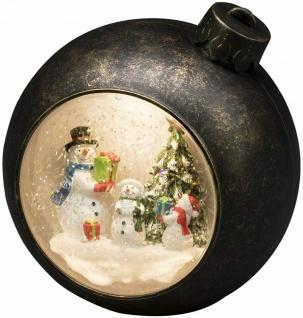 LED Weihnachtskugel Braun warmweiß Schneemann Batteriebetr. Konstsmide 4361-000