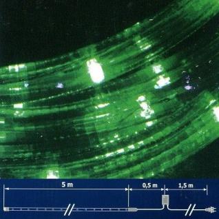 LED Lichtschlauch Lichterschlauch 5m Blinkfunktion grün NLED05V