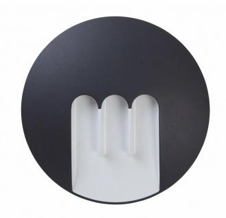 LED Alu Außenwandleuchte MASK anthrazit 23, 5x4, 8cm Lutec 1871-GR Eco-Light