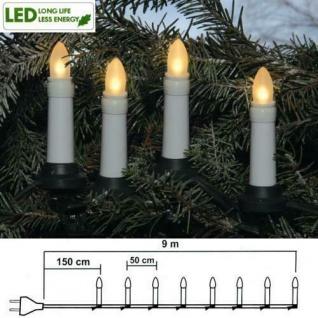 LED Weihnachtsbaumbeleuchtung 16er Lichterkette warmweiß außen 411-90 xmas