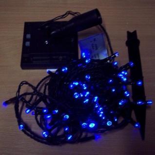 LED Solar-Lichterkette 100'er blau 8 Funtionen 10m Blachere JFS019B