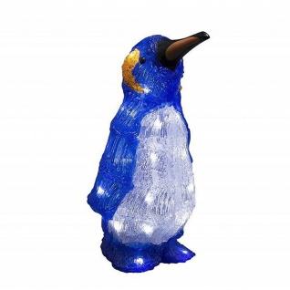 LED Acryl Pinguin 32cm 24 Dioden Batterie Timer außen Konstsmide 6142-203