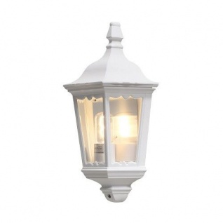 Aluminium Wandleuchte FIRENZE weiß Scheiben aus Glas E27 Konstsmide 7229-250