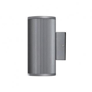 Alu Wandleuchte grau Glas klar SIRACUSA außen Konstsmide 7514-300