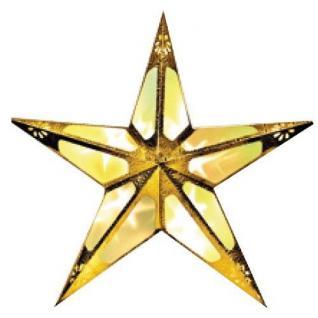 Weihnachtsstern 60cm 10er LED Hologramm-Effekt gold innen 009-80 xmas