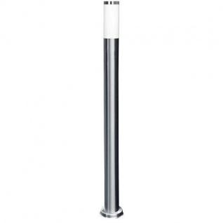 LED Edelstahl Wegeleuchte SALZBURG E27 110cm hoch Lutec ST022-1100 Eco-Light