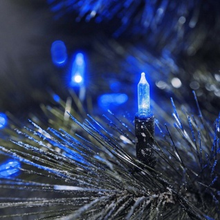 LED Mini-Lichterkette 80er blau / grün aussen Konstsmide 6020-400 xmas