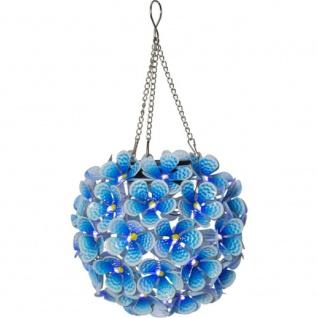 """LED Solarleuchte Solar-Hänger """" Hortensia"""" blau 16cm 44 kaltweiße außen 481-58"""