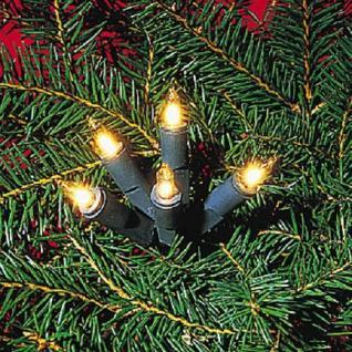 Mini-Lichterkette 20er Birnen klar / grün Ringkette 421-55