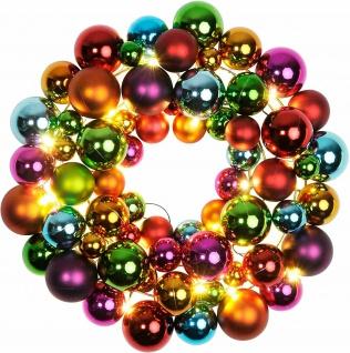 "Best Season LED-Kugelkranz "" Ball Wreath"" 38x38x9cm Kunststoff beleuchtet 700-01"