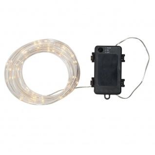 LED Mini-Lichtschlauch TUBY 5m klar-warmweiß Batterie Timer 857-20