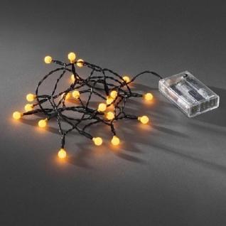 LED Globe-Lichterkette 20er Batterie 3xAA Timer innen gelb 1491-007 xmas