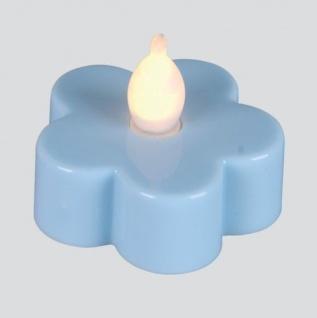 LED-Teelicht 3 Stück Teelichter Blüte blau Best Season 066-15 - Vorschau