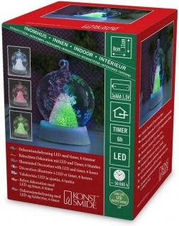 Konstsmide Beleuchtete Glaskugel Engel Dekoration LED mit Timer 3xAAA 3409-000