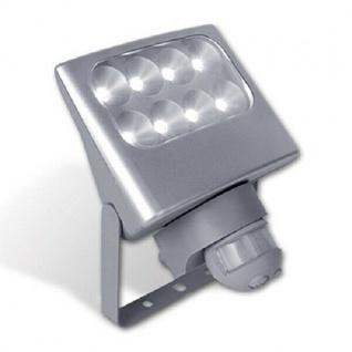 LED Außenwandstrahler NEGARA silber 24W 1540lm Bewegungsmelder 6170 SI-PIR Lutec