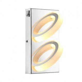 Globo LED Wandleuchte MANGUE 2-flammig 440lm 3000K chrom innen 67062-2