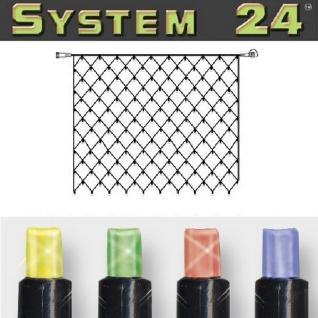 System 24 LED Lichternetz 140er 2x2m extra bunt 491-21-80 außen xmas
