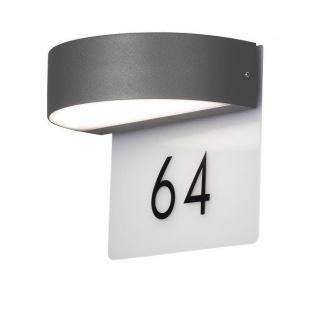 LED High Power Alu Hausnummern-Wandleuchte MONZA anthrazit IP54 außen 7855-370