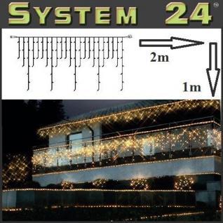 System 24 LED Eisregen-Lichterkette 98er extra 2x1m warmweiß 491-11 außen xmas
