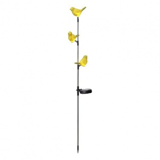 LED Solargartenstab Solarleuchte gelbe Vögel 95x13cm außen Best Season 479-11