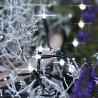 LED Lichterkette 120er 7m cool white / schwarz 8 Funktionen außen 498-48 xmas