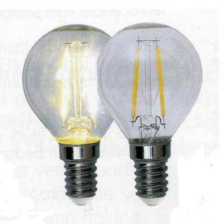 Illumination LED Filament Leuchtmittel Glühbirne E14 230V 210lm 2W 2700K 352-11