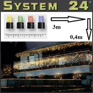 System 24 LED Eisregen-Lichterkette 49er bunt 3x0, 4m 491-10-80 außen xmas