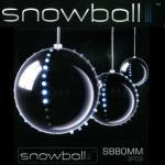 Snowball Weihnachtskugeln 3 Stück mit jeweils 52 LEDs JSFB80-3