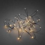 LED Tropfenlichterkette 50er bernstein / schwarzfarbener Draht innen 6386-800